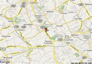 What County Is Chadds Ford Pa In Map Of Sentinel Motel Chadds Ford
