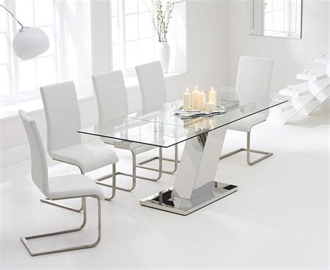 Glass Extendable Dining Table And 6 Chairs 20 Ideas Of Extendable Glass Dining Tables And 6 Chairs Dining Room Ideas