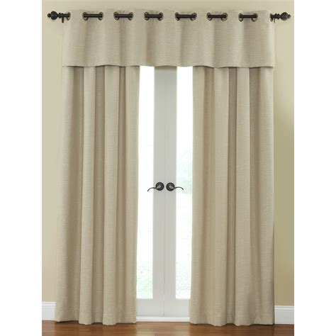 waverly curtains at lowes shop waverly cirrus 84 in l solid cream rod pocket window