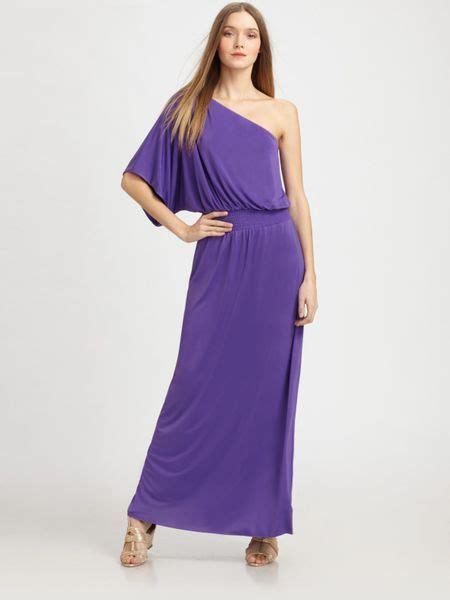 Maxi Dress Dalia Purple Belt Citra t bags one shoulder maxi dress in purple lyst