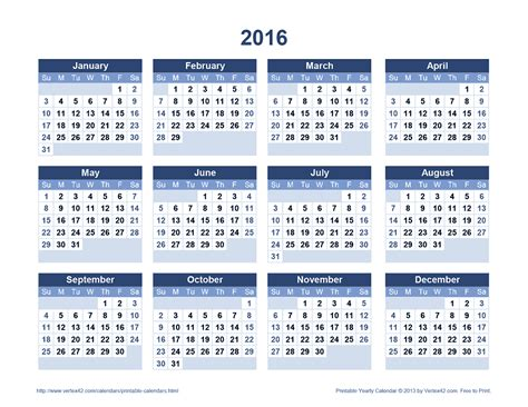 printable calendar 2016 uk landscape download the printable 2016 yearly calendar