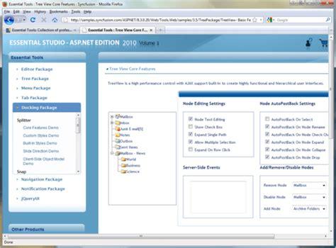 design menu control in asp net syncfusion essential tools for asp net screenshots
