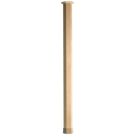 Wooden L Post by Colonial Elegance Couvre Poteau Hexagonal En Bois Fhd 8 Naturel R 233 No D 233 P 244 T