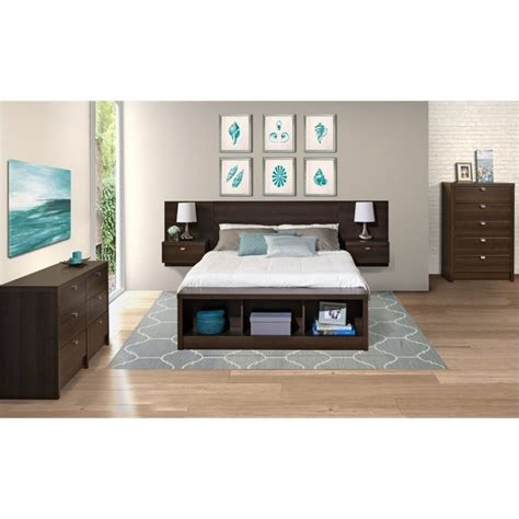 espresso bedroom set 4 bedroom set in espresso ebx ehhx bed pkg4