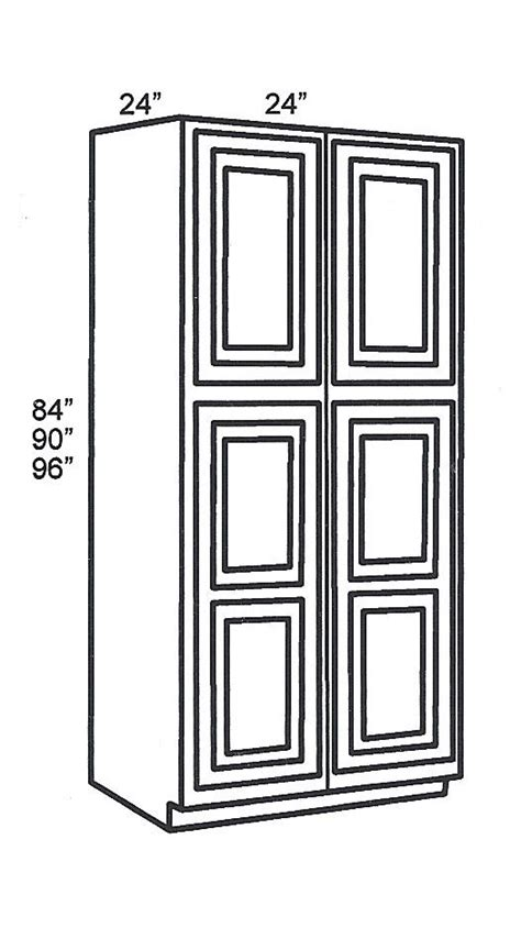 Tsg Kitchen Cabinets by Wp2490b Tall Cabinets Pantry Cabinet Signature Pearl