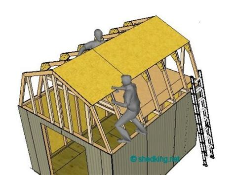 building a gambrel roof shed roof building a shed roof roof framing