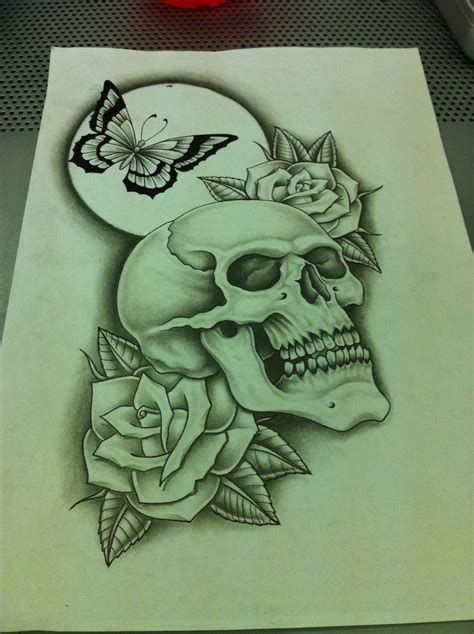 redo tattoo designs skull butterfly roses redo by nsanenl on deviantart