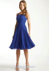 In royal blue bridesmaid dresses going great with white wedding gown