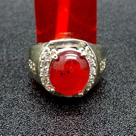 Barang Antik Batu Merah Delima Batu Cincin Merah Delima Bersertifikat Asli Dunia Pusaka Sakti