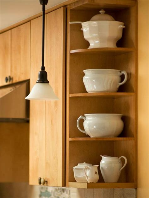 kitchen cabinet end shelves end cap corner shelves kitchen pinterest shelves
