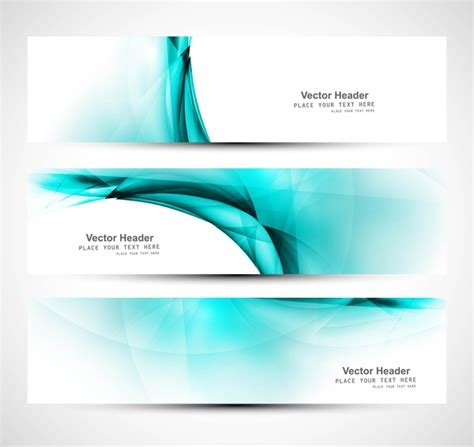 13 abstract header design images blue abstract waves abstract shiny three blue wave header whit vector free