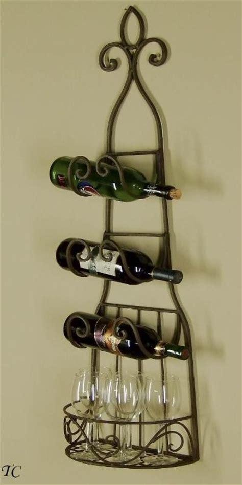 Wall Wine Towel Rack by Treasurecombers Wrought Iron Wine Rack Towel