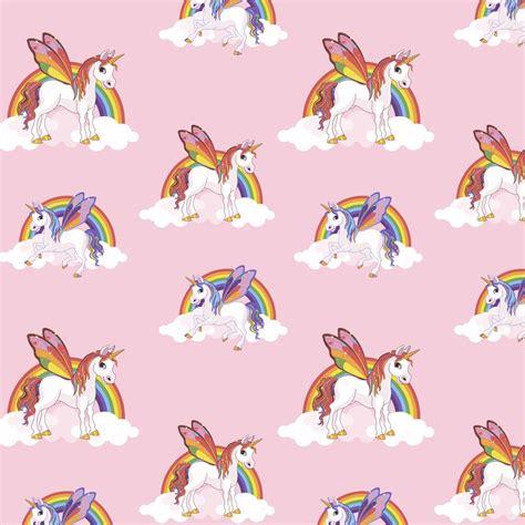 unicorn schlafzimmer regenbogen einhorn muster kinder tapete magic wolke pferd
