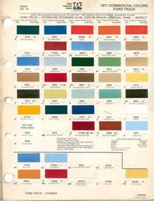 truck colors paint chips 1977 ford truck fleet commercial econoline
