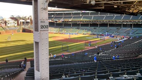 wrigley field section 202 chicago cubs wrigley field section 202 rateyourseats com