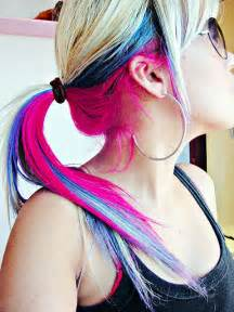 color underneath hair tri hair color hair colors ideas