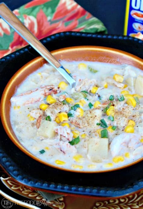 Dinner In 15 Corn And Crab Soup by 30 Minute Crab Chowder