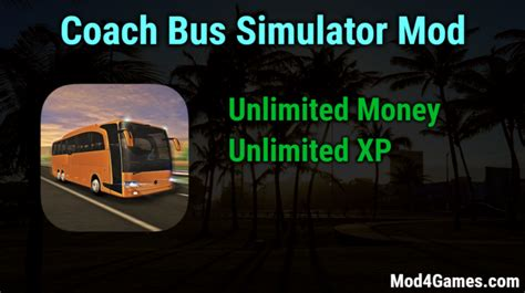 mod game unlimited money coach bus simulator unlimited money xp game mod apk free