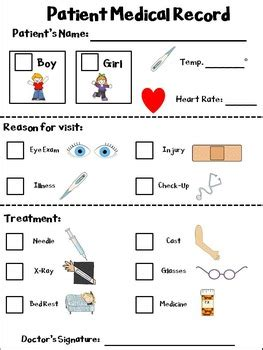 Doctor Dramatic Play Printables