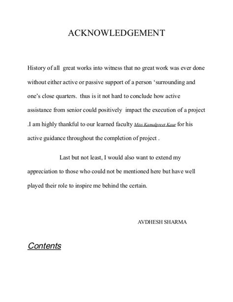 How To Make An Acknowledgement In A Research Paper - writing an acknowledgement