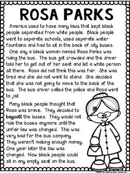 rosa parks biography lesson plan rosa parks black history month by sunny and bright in
