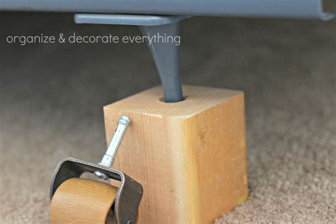 bed leg risers diy bed risers organize and decorate everything