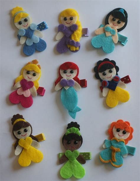 Disney Frill Hair Clip pretty princesses hair clip set disney by cravingcuteness on etsy http stuffedanimalsfamily