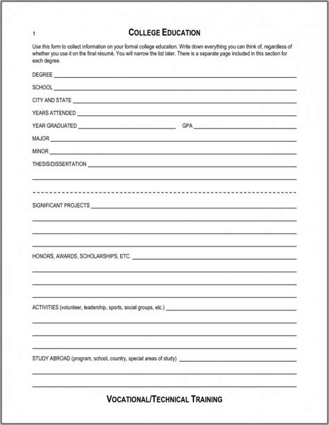 free resume templates to fill in and print free blank resume to print resume resume exles o9kovr9dz5