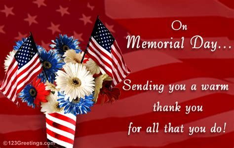 Memorial Day Thank You Cards, Free Memorial Day Thank You