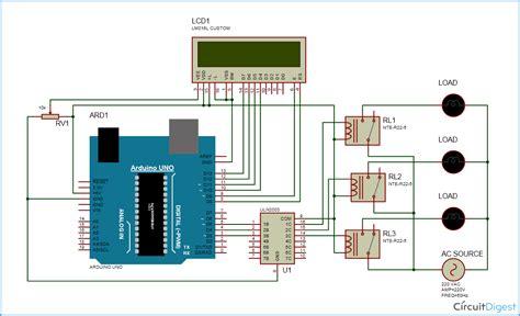 arduino home automation circuit diagram arduino