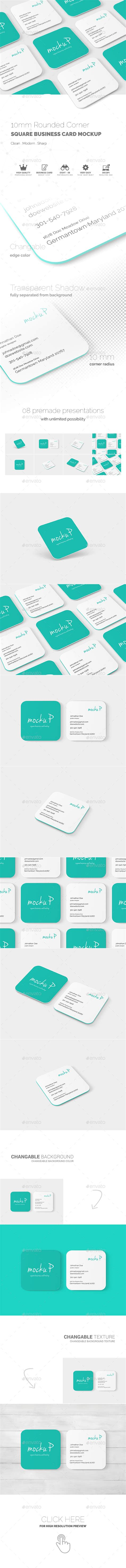 square business cards rounded edges square rounded corner business card mock up by toasin