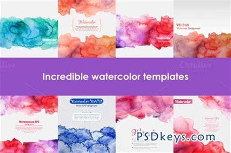 set of watercolor templates 104577 187 free download