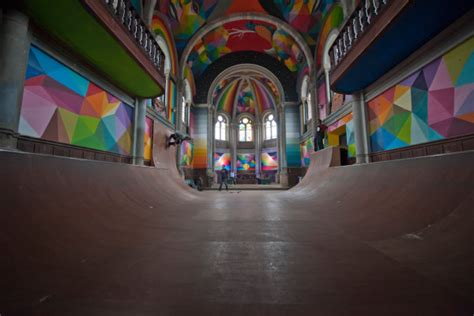Kaos Skate 02 an church becomes a colorful skateboarder s heaven
