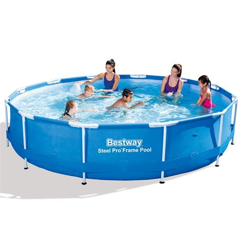 Kolam Ground Steel Pro Frame Pool Bestway 56245 White Kualitas Terbaik kolam renang ground steel pro frame 366cm 56415 tanpa