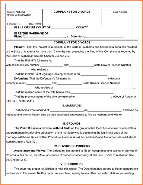 free uncontested divorce forms sales report template
