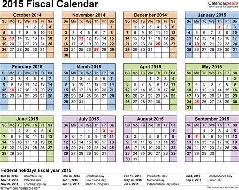 Calendar Excel 2015 Fiscal Calendars 2015 As Free Printable Excel Templates