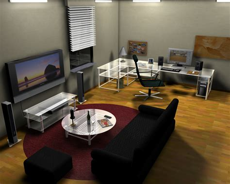 livingroom pc computer room decorating ideas modern living room desktop pc