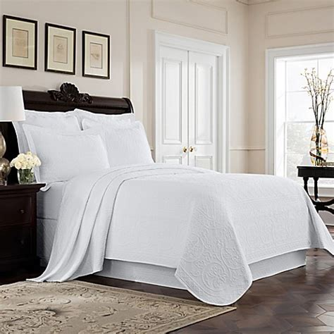 white coverlet twin buy williamsburg richmond twin coverlet in white from bed