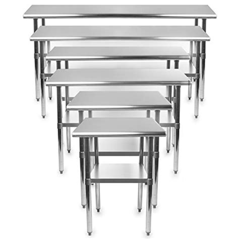 Commercial Kitchen Stainless Steel Tables Gridmann Stainless Steel Commercial Kitchen Prep Work Table 48 In X 24 Ebay