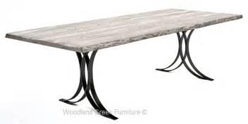 Modern wrought iron base unique metal table base