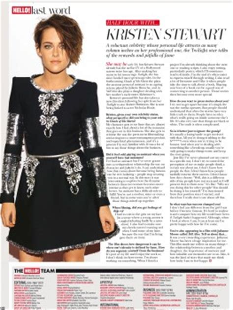 hello magazine template new kristen with hello magazine uk