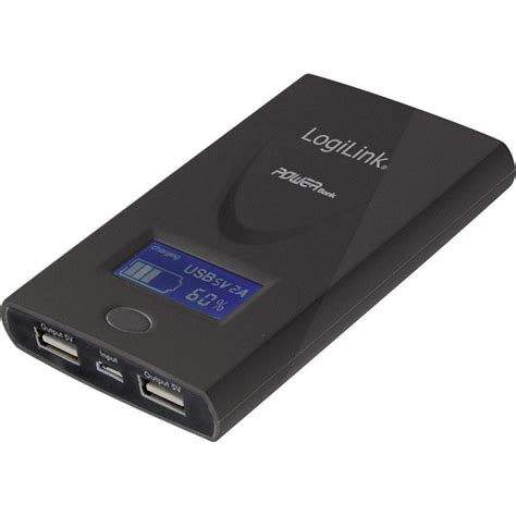 battery power bank power bank spare battery logilink mobile power 6000