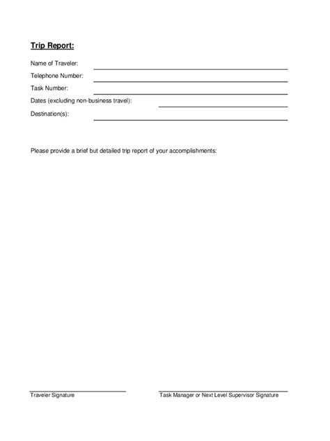 trip report template trip report template 3 free templates in pdf word
