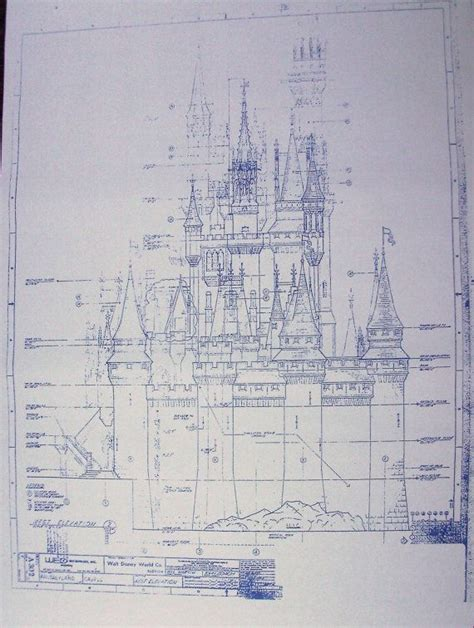 castle blueprint walt disney world cinderella castle west blueprint by