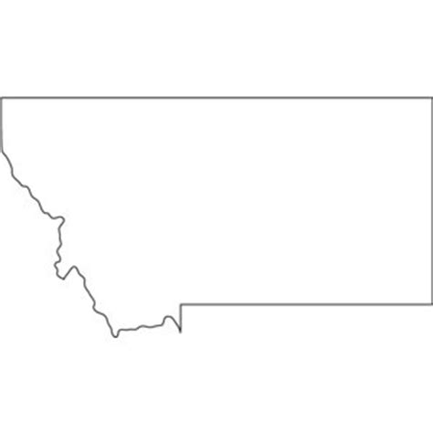 Montana Map Outline by State Montana Quotes Quotesgram