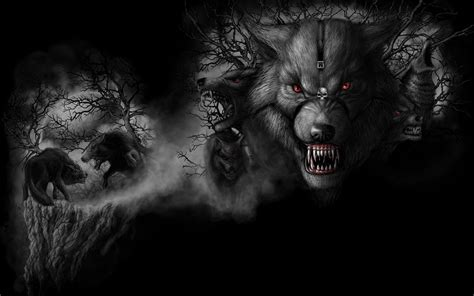 black and white anime wolves 3 background wallpaper dark wolf wallpapers wallpaper cave