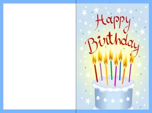 Print Out Birthday Card Printable Black And White Birthday Card