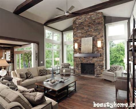 pictures of beautiful living rooms with fireplaces تزئینات و دکوراسیون داخلی خانه