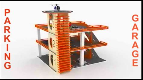 wood toy parking garage building plans cnc laser youtube