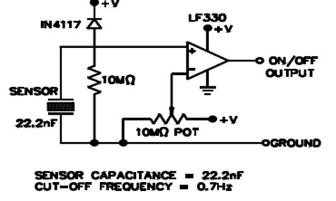 piezoelectric sensor circuit diagram piezoelectric pressure sensor circuit diagram circuit